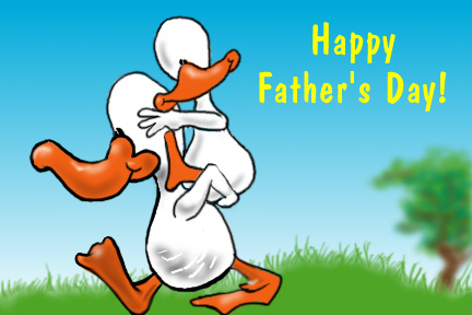 Happy Father`s Day with ducks here