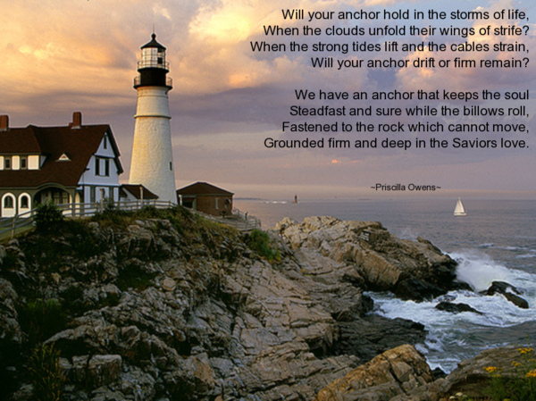 Image of light house with poem here