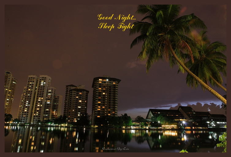 Beautiful Night Image Here, with text