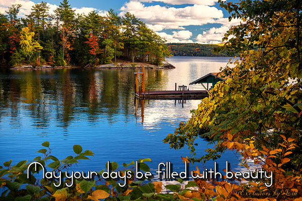 Beautiful fall image here with text... May your days be filled with beauty
