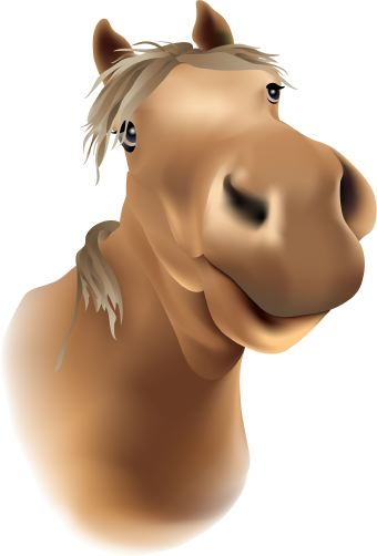 Cartoon image of horse here